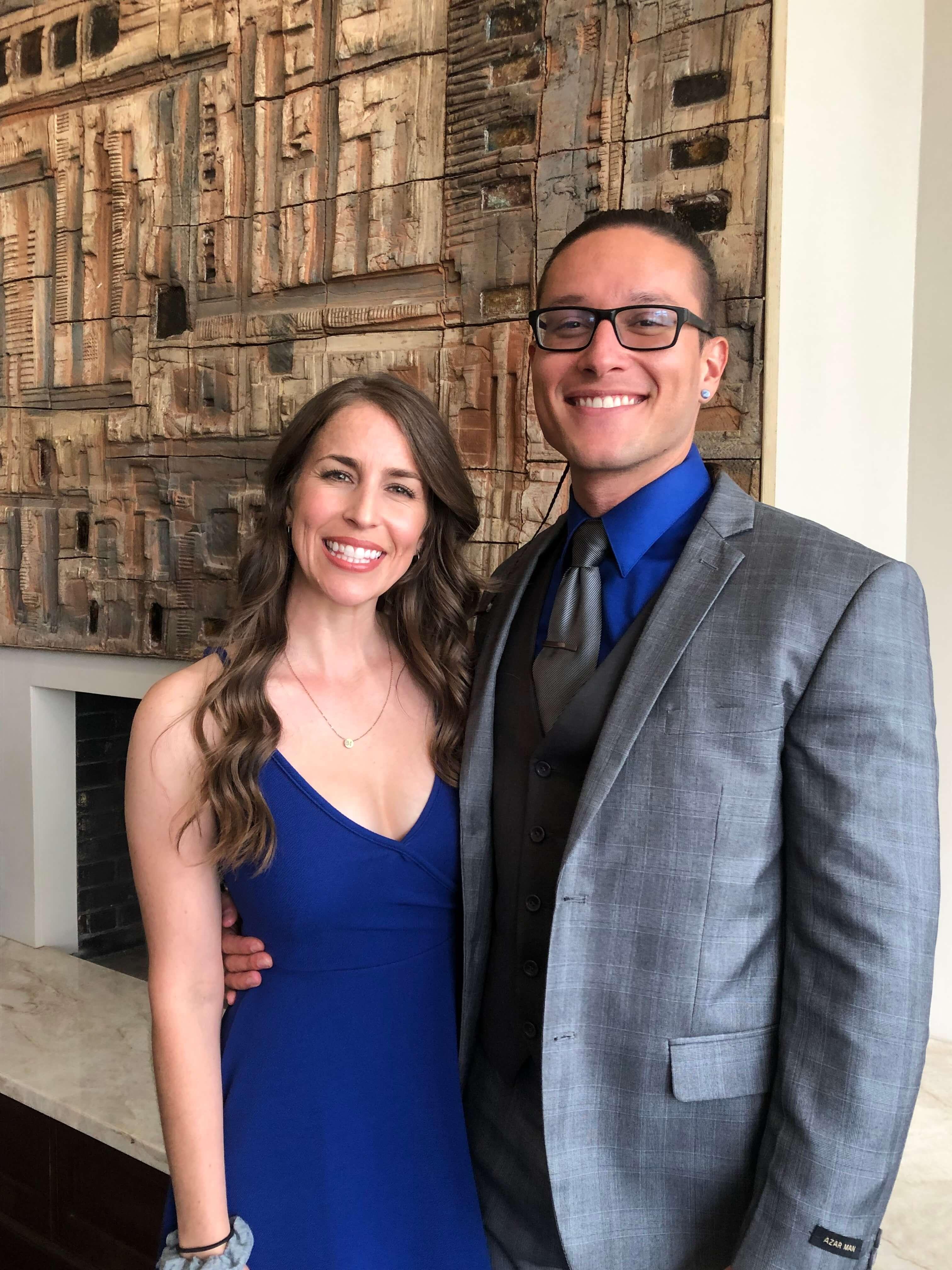 rachael and mark beneke at gerald's wedding